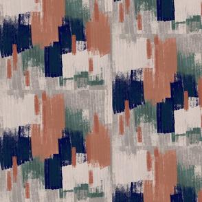 Navy + Peach Brushmark