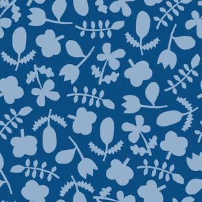 Folk Floral Cut Outs   Blues