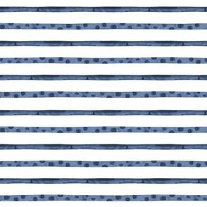 Smaller Watercolor Blue and white sea stripe