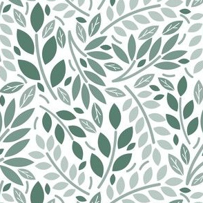 Geometric Botanicals Sage Green