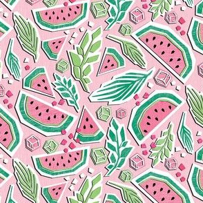 Smaller Watermelon Summer Cut Paper