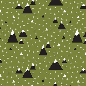Triangle Mountains (Olive Pop) Dark