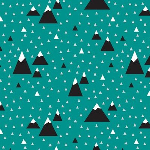 Triangle Mountains (Teal Pop) Dark