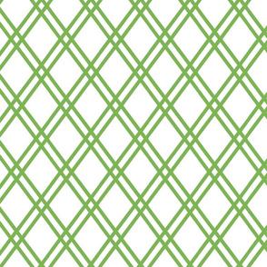 """DOUBLE DIAMOND 3"""" green on white"""