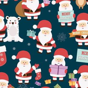 Santa Claus Pattern 02