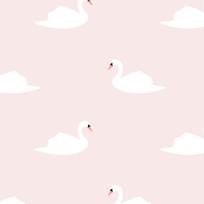 Swans on pink 02