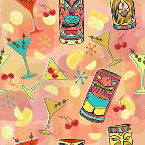 Kitschy Tiki Bar in Soft Pink