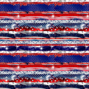 4th of July  brush strokes stripes  grunge  stars