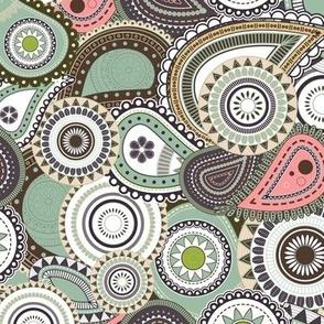 Colorful Garden Paisley V4