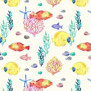 Ocean Party Watercolor cream