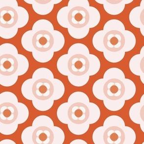 Shapes As Flowers | Vermilion + Pink