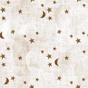 19-16 stars and moons // sugar sand linen