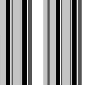 Black White Gray Stripes