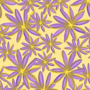 Purple Daisy_yellow