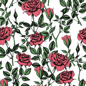 Red roses pattern 2