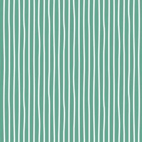 Irregular hand drawn stripes breton marine Parisian style St Patrick's Day minimal basic vertical sage green