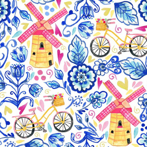 Netherlands Whimsy - Delft, Bicycles & Ornamental Windmills