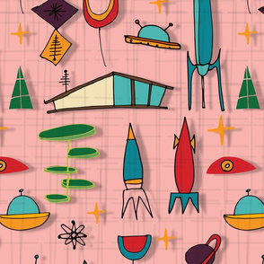 Space Age Blues - Retro Pink