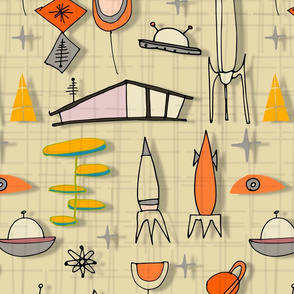 Space Age Blues - Pearl Orange