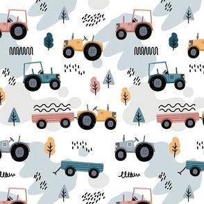 Doodle tractor - neutral - big
