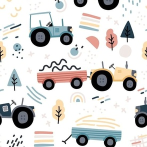 Abstract Tractor - colorful BIG