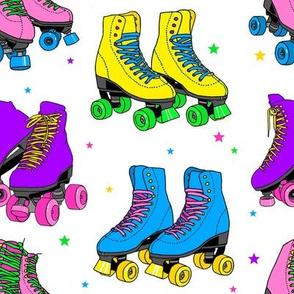 Rainbow Roller Skates