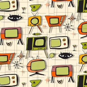 Retro Tv Pearl Orange