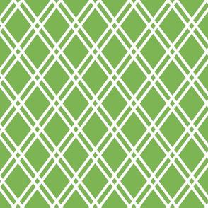 """DOUBLE DIAMOND 3"""" white on green"""