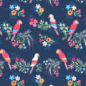 Vintage Kitsch Parrots