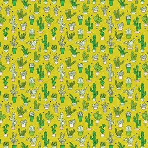 Cactus botanical garden lime green summer XS
