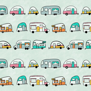 Colourful Retro Campers