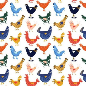 Colorful Chickens