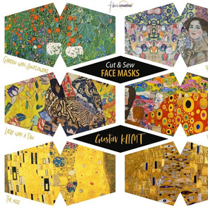 Klimt face masks - The Kiss, Hope, Woman in Gold, Ria Munk, Lady with a Fan