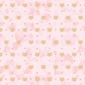 Glitter Kitsch Cats on blush pink