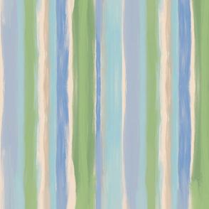 Soft Sea Foam Beach Stripes