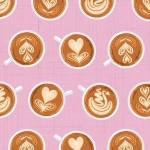 Coffee Art on pink