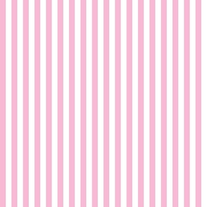 white and pink 1/2 inch stripe