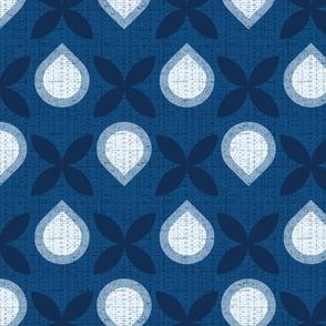 Classic blue droplets