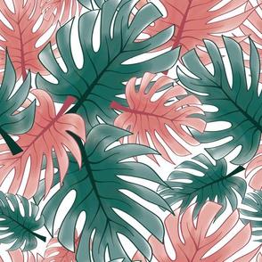 Palm Paradise - white ground