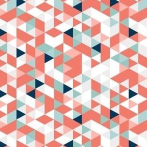 Coral Teal Prism