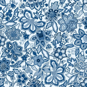 Classic Blue Floral