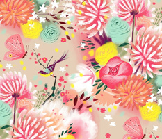 spring flowers fluffy soft