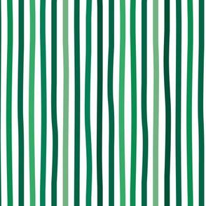 Little St Patrick's Day Irish stripes basic minimal strokes spring summer green and white
