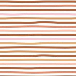 Little fall stripes basic minimal strokes spring summer vintage brown rust copper ochre pink