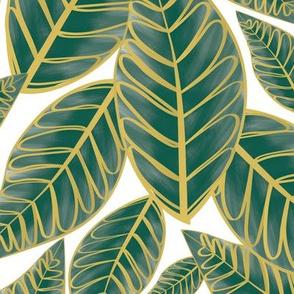 Island Palms - white ground