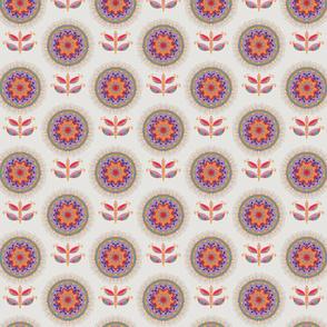 Mandala Flower Beige