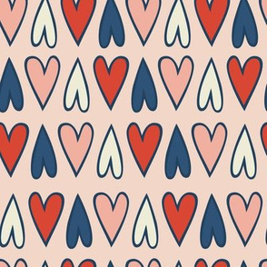 Hearts - pink background
