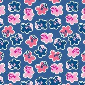 aloha hibiscus mix classic blue