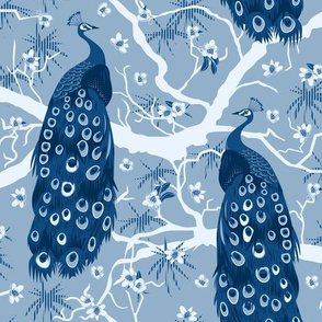 peacock classic blue large scale