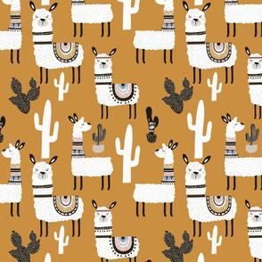 Llamas in Desert - TAN